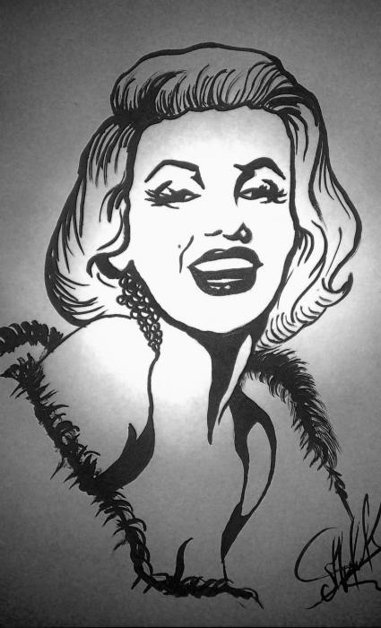 Marilyn Monroe by mahar-art